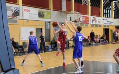 Matthew Will (rotes Trikot, Regnitztal Baskets/JBBL), Copyright: Brose Bamberg Youngsters